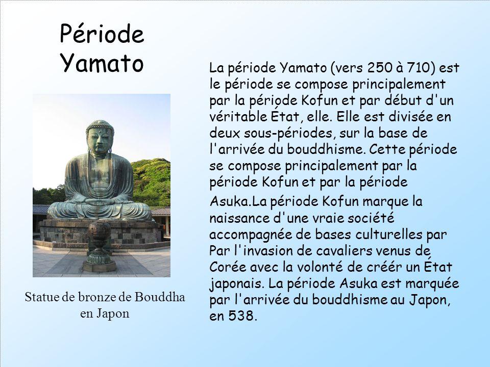 Statue de bronze de Bouddha en Japon