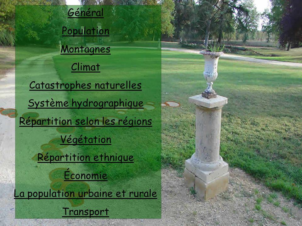 Catastrophes naturelles Système hydrographique