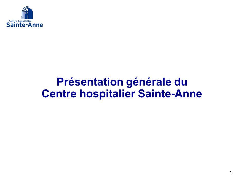 Présentation générale du Centre hospitalier Sainte-Anne