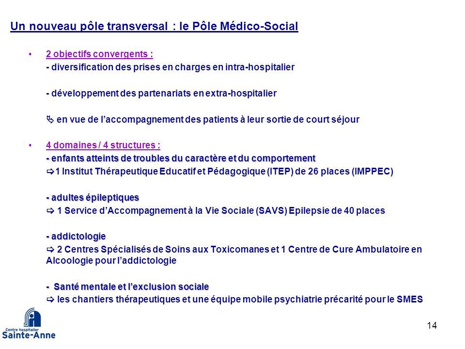 Un nouveau pôle transversal : le Pôle Médico-Social