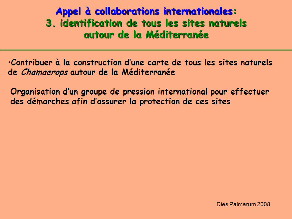 Appel à collaborations internationales: 3