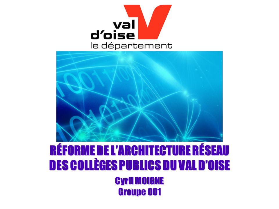 RÉFORME DE L'ARCHITECTURE RÉSEAU DES COLLÈGES PUBLICS DU VAL D'OISE