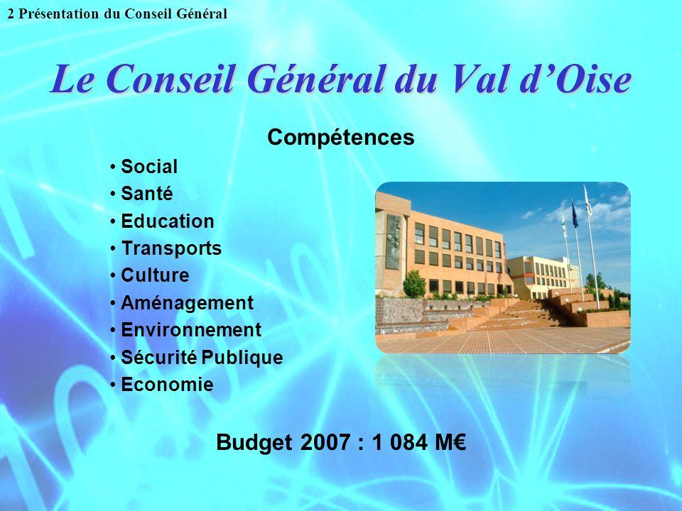 Le Conseil Général du Val d'Oise