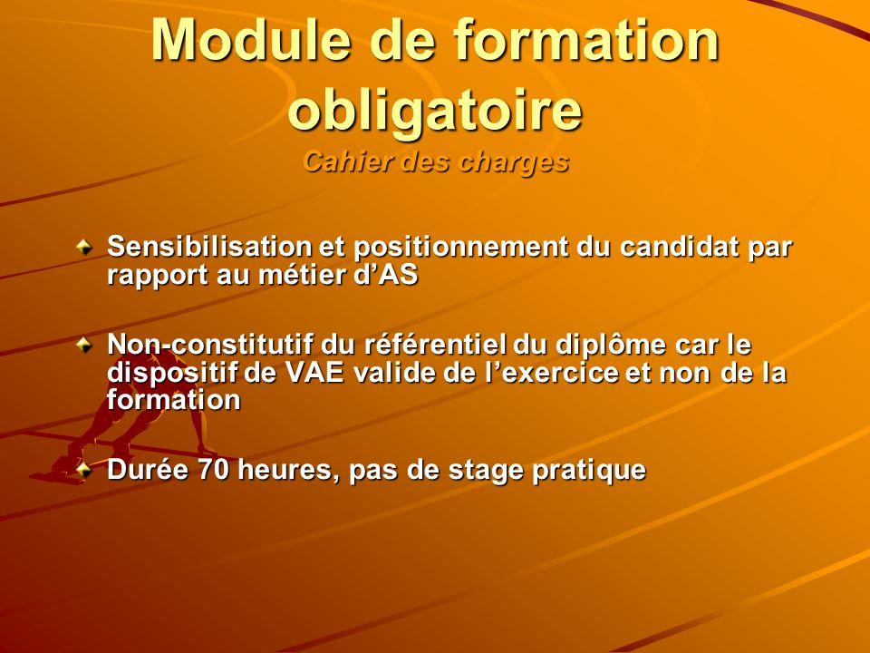 Module de formation obligatoire Cahier des charges