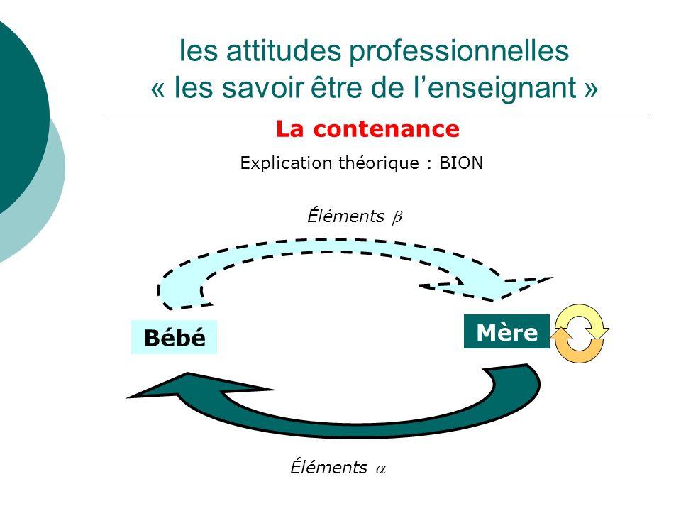 les attitudes professionnelles « les savoir être de l'enseignant »