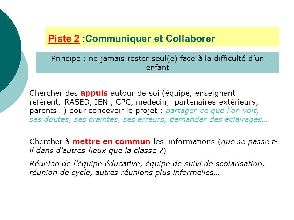 Piste 2 :Communiquer et Collaborer