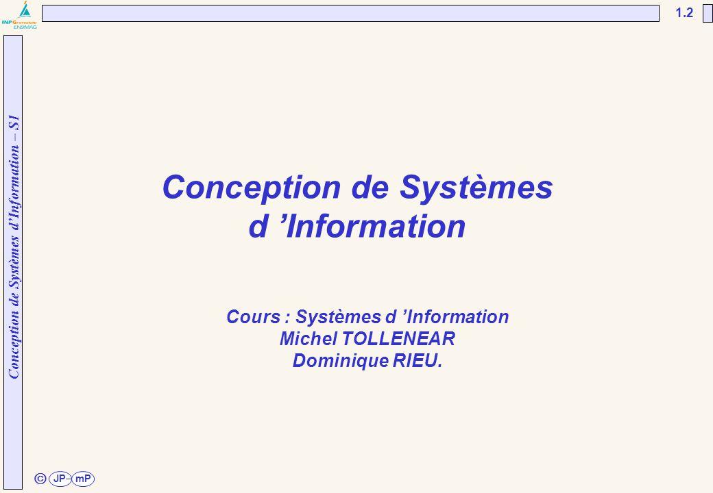 Conception de Systèmes d 'Information