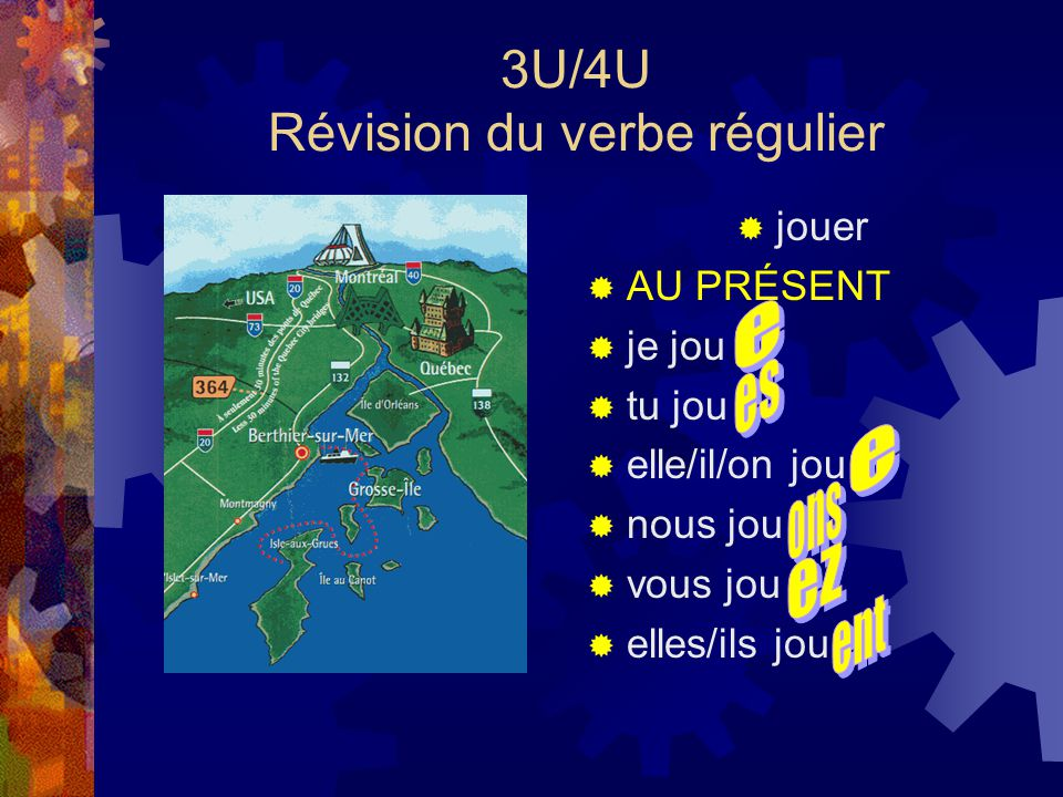 3U/4U Révision du verbe régulier