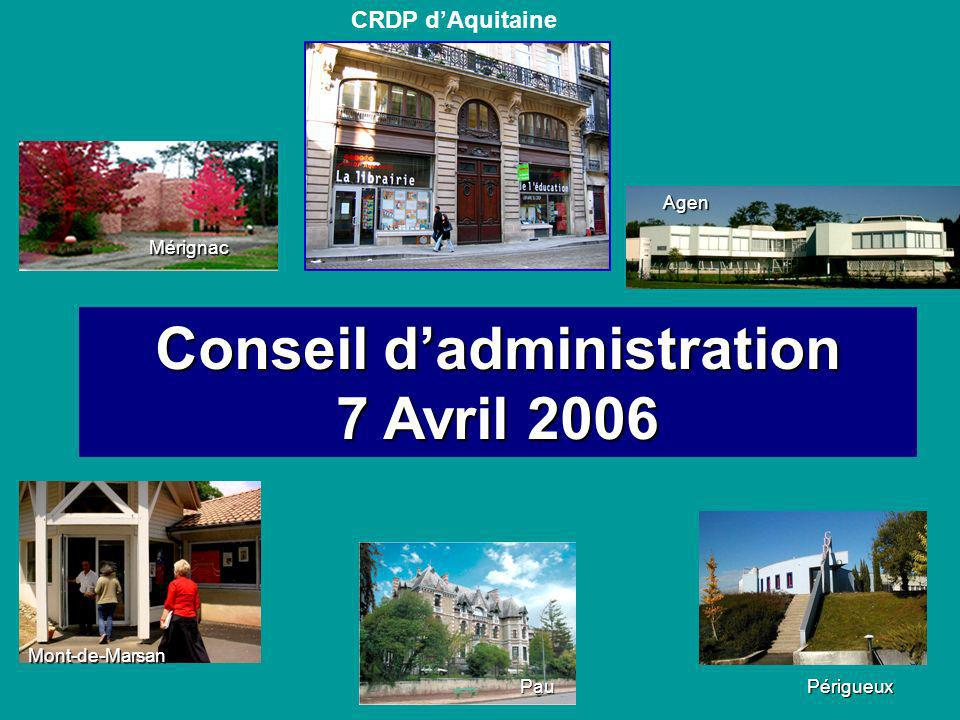 Conseil d'administration 7 Avril 2006