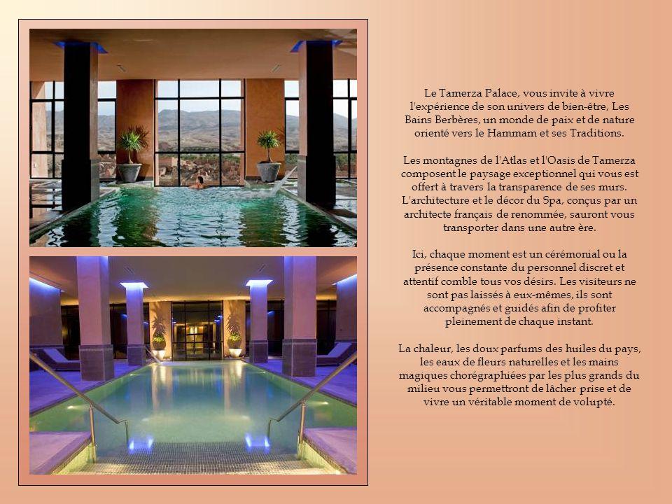 Le Tamerza Palace, vous invite à vivre l expérience de son univers de bien-être, Les Bains Berbères, un monde de paix et de nature orienté vers le Hammam et ses Traditions.