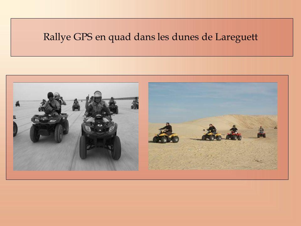 Rallye GPS en quad dans les dunes de Lareguett