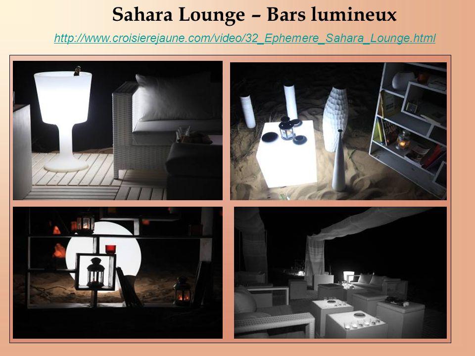 Sahara Lounge – Bars lumineux