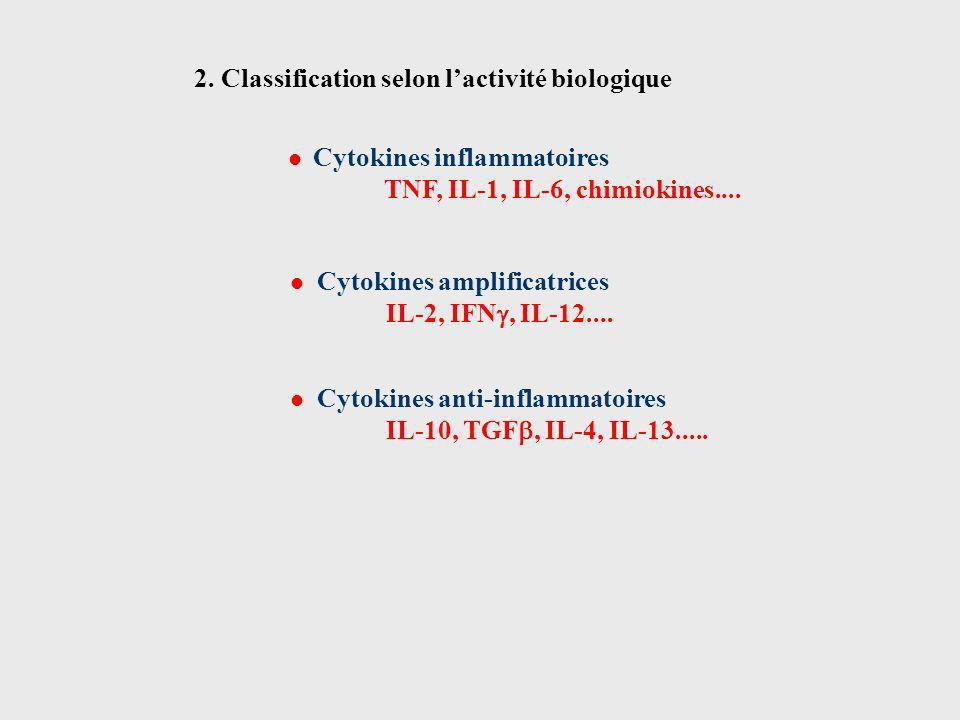 2. Classification selon l'activité biologique