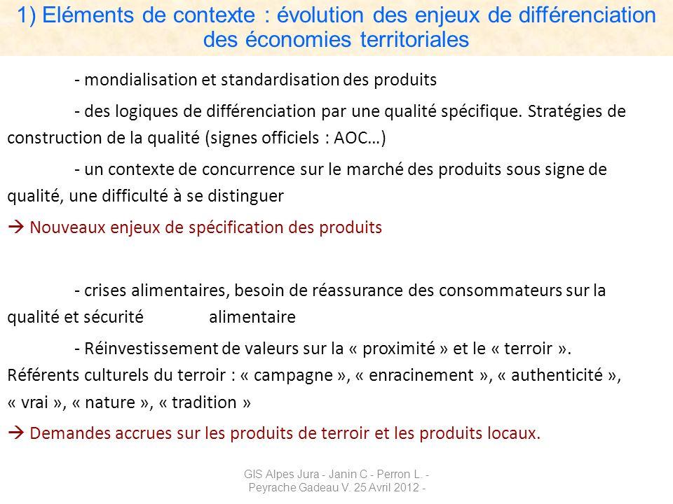 1) Eléments de contexte : évolution des enjeux de différenciation des économies territoriales