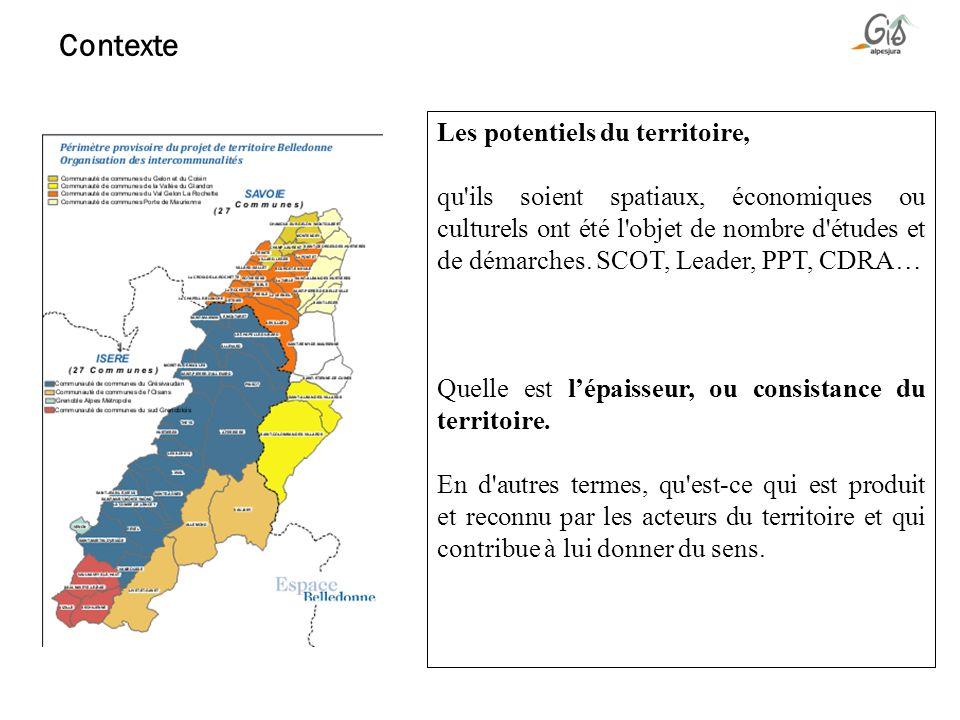 Contexte Les potentiels du territoire,