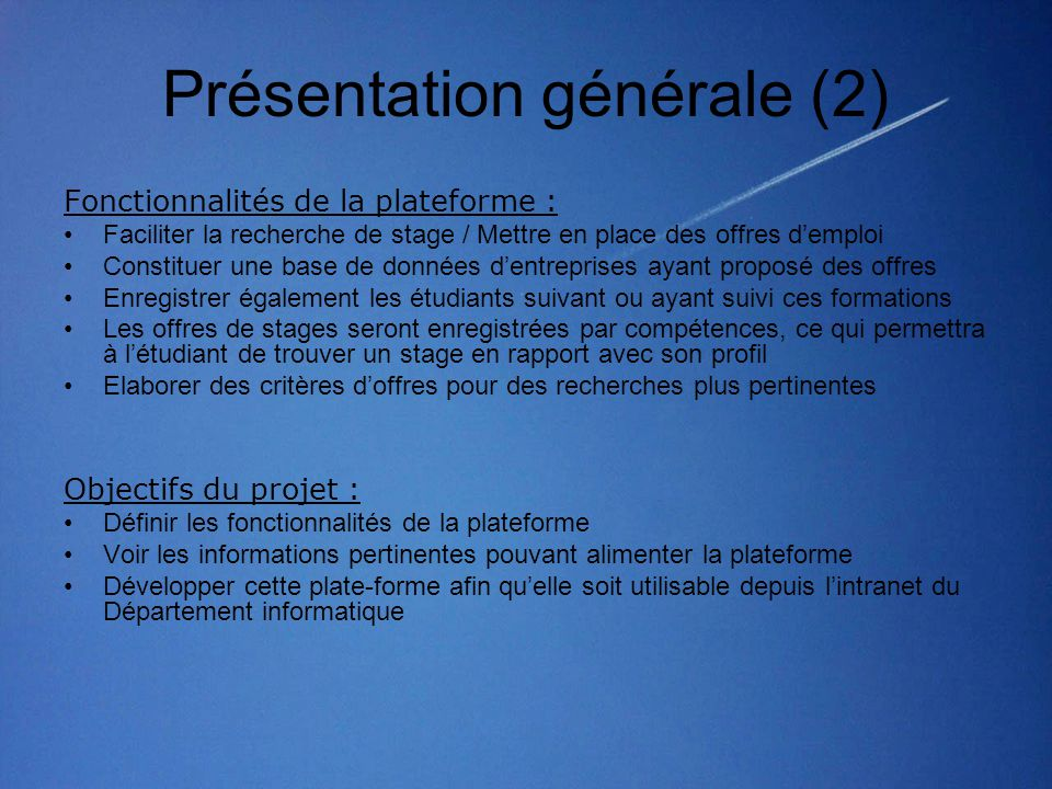 Présentation générale (2)