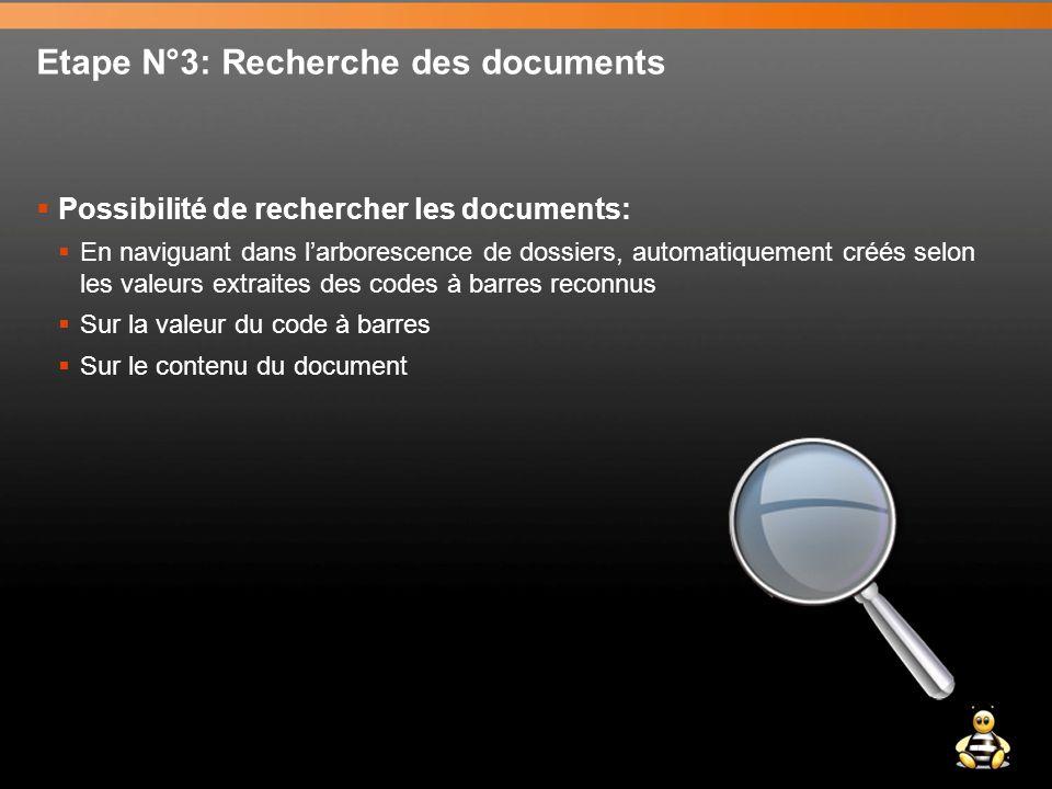 Etape N°3: Recherche des documents