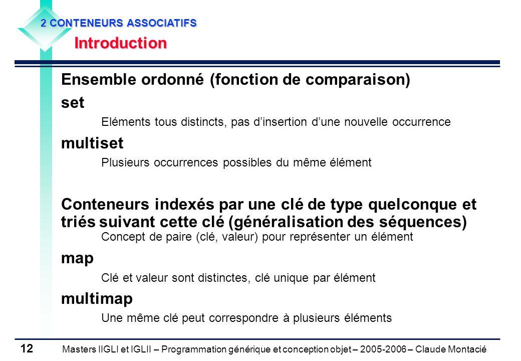 Ensemble ordonné (fonction de comparaison) set multiset
