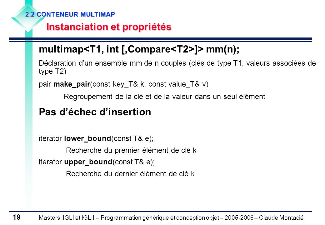 multimap<T1, int [,Compare<T2>]> mm(n);