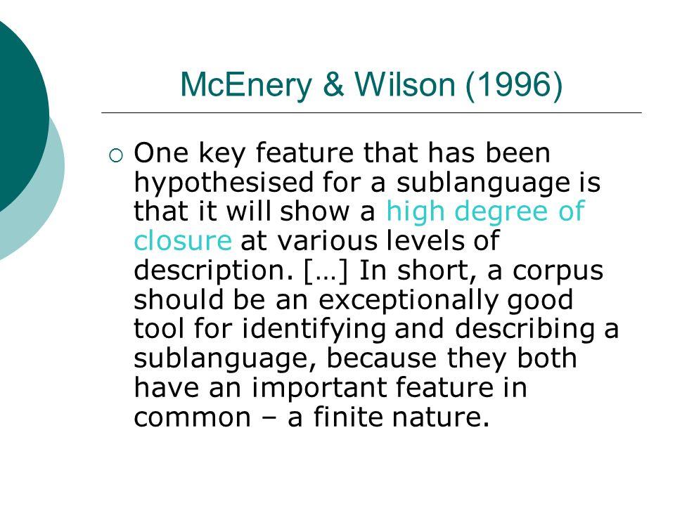 McEnery & Wilson (1996)