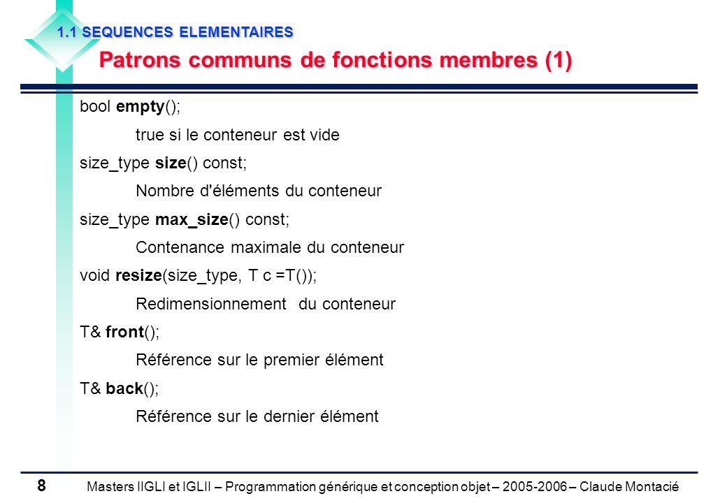 Patrons communs de fonctions membres (1)
