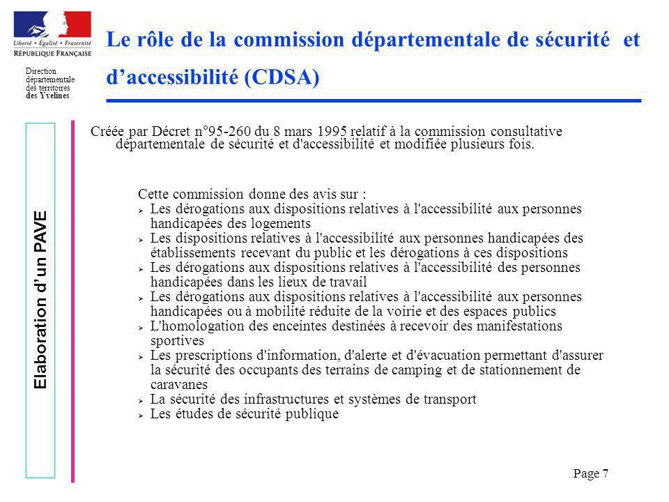 Le rôle de la commission départementale de sécurité et d'accessibilité (CDSA)