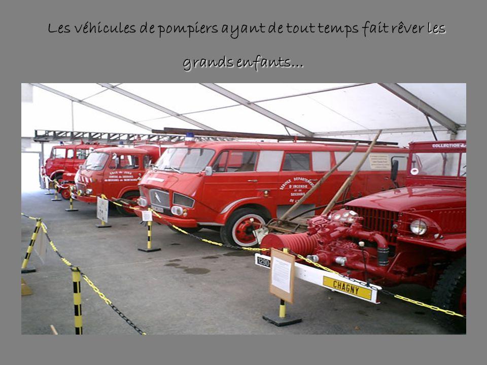 Les véhicules de pompiers ayant de tout temps fait rêver les grands enfants…