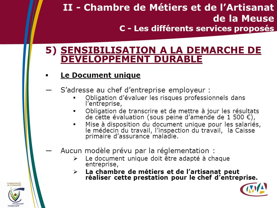 SENSIBILISATION A LA DEMARCHE DE DEVELOPPEMENT DURABLE