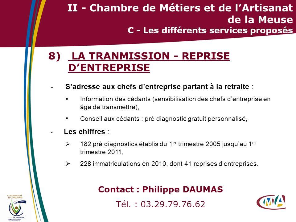 LA TRANMISSION - REPRISE D'ENTREPRISE