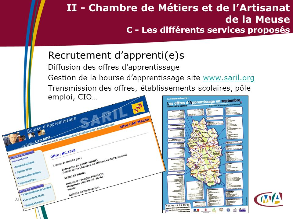 Recrutement d'apprenti(e)s