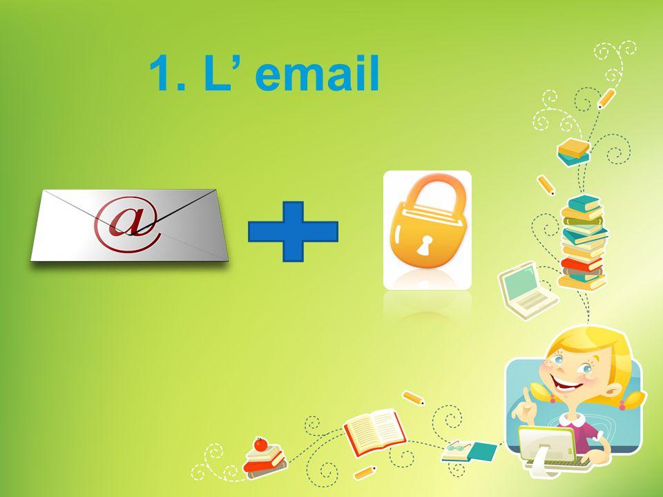 1. L' email Combien de fois utilisez-vous les emails Vers qui