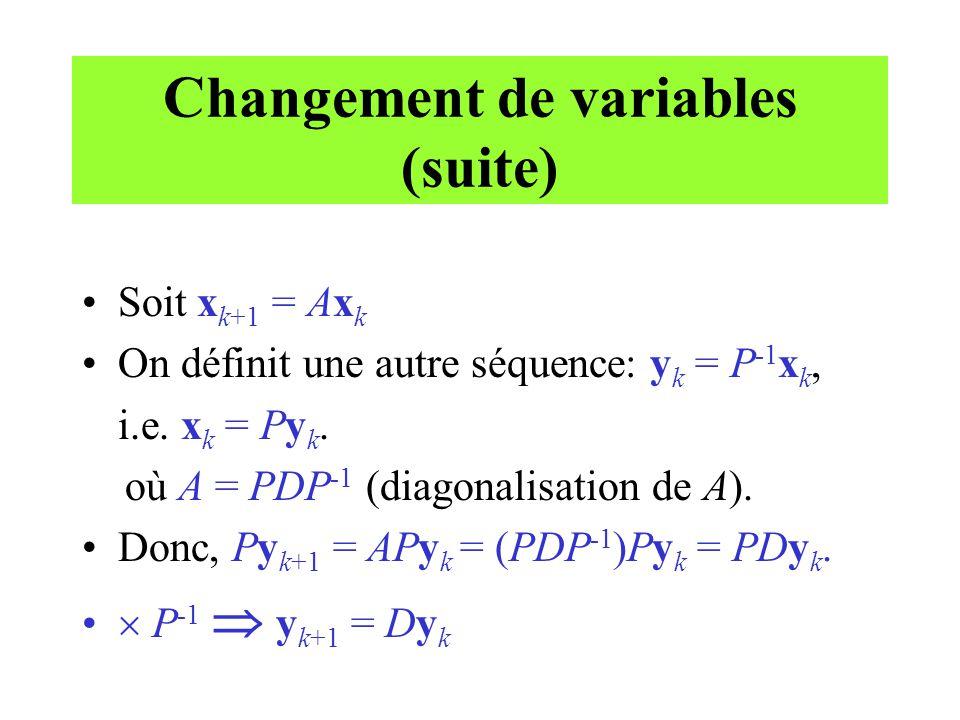 Changement de variables (suite)