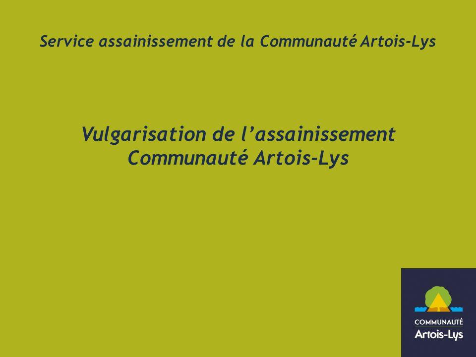 Vulgarisation de l'assainissement Communauté Artois-Lys