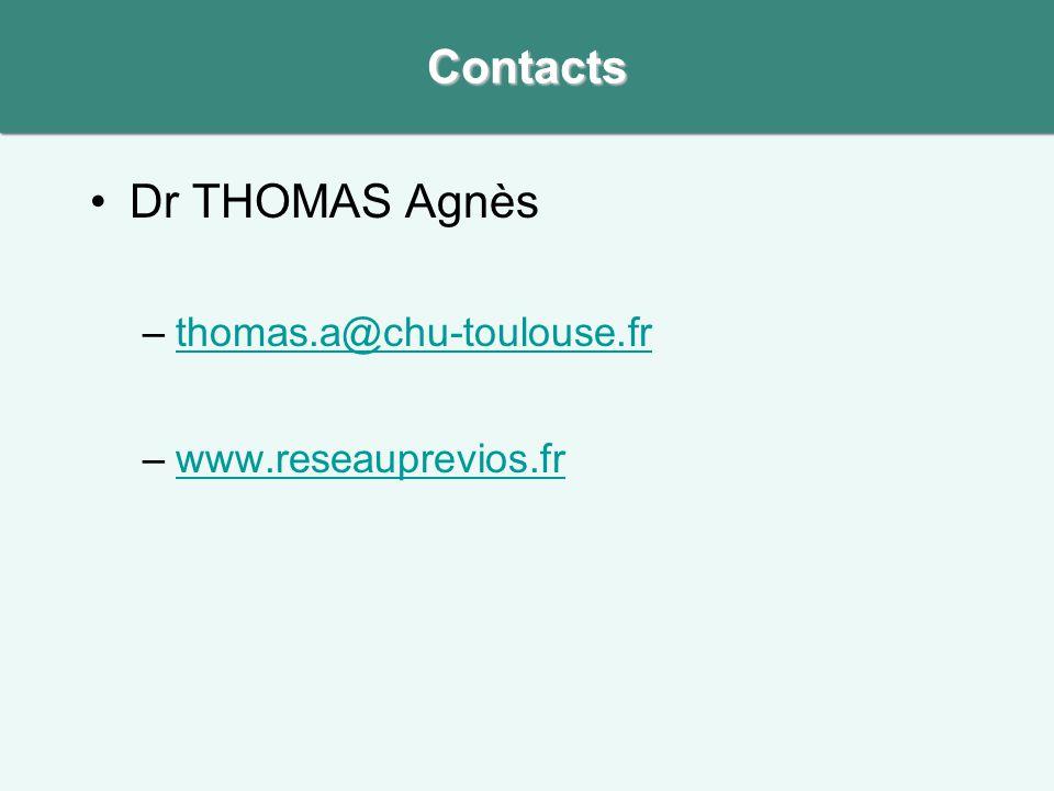 Contacts Dr THOMAS Agnès thomas.a@chu-toulouse.fr www.reseauprevios.fr