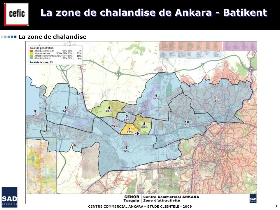 La zone de chalandise de Ankara - Batikent