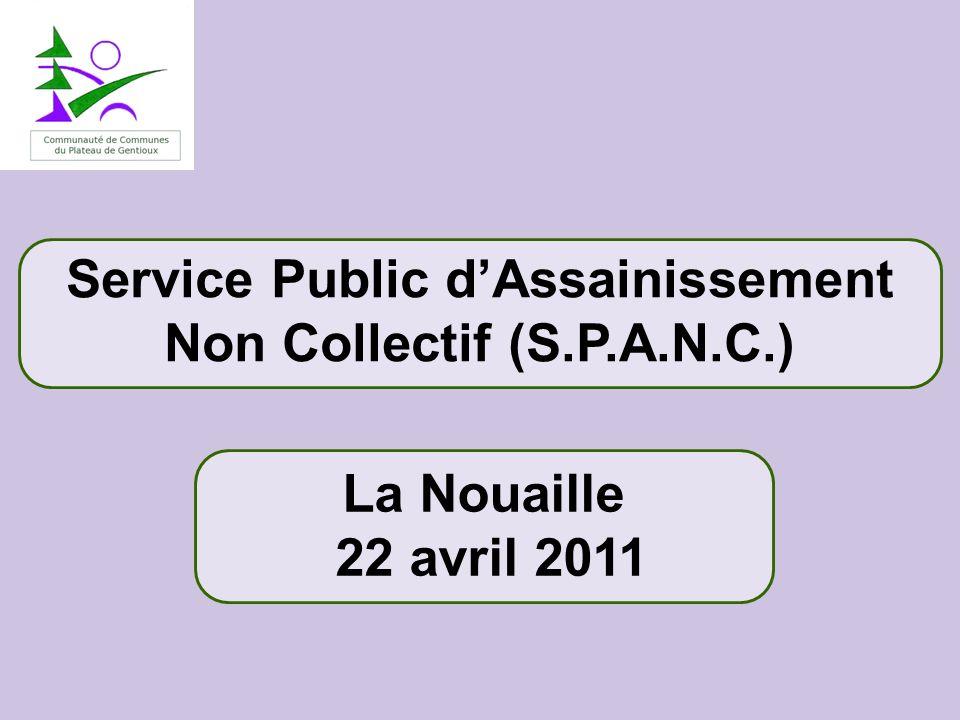Service Public d'Assainissement Non Collectif (S.P.A.N.C.)