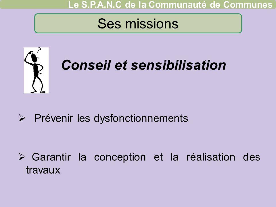 Ses missions Conseil et sensibilisation
