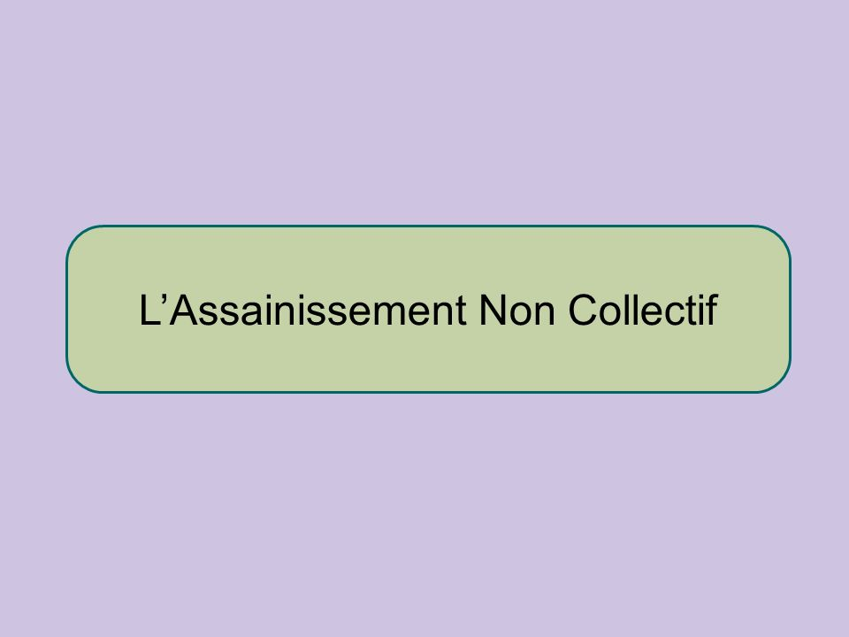 L'Assainissement Non Collectif