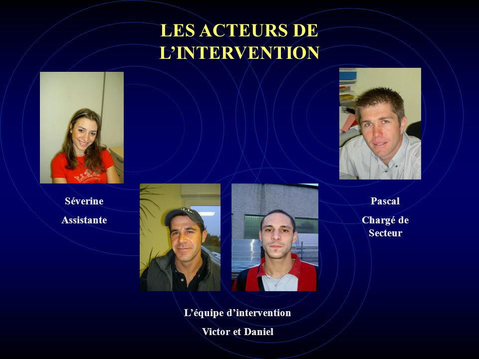LES ACTEURS DE L'INTERVENTION L'équipe d'intervention