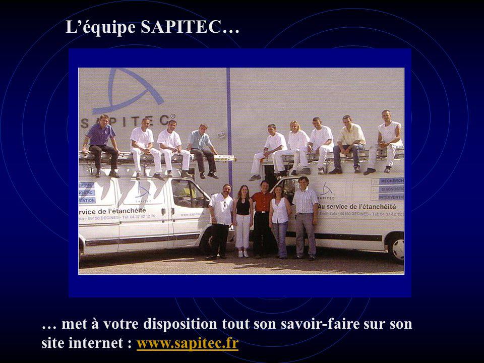 L'équipe SAPITEC… … met à votre disposition tout son savoir-faire sur son site internet : www.sapitec.fr.