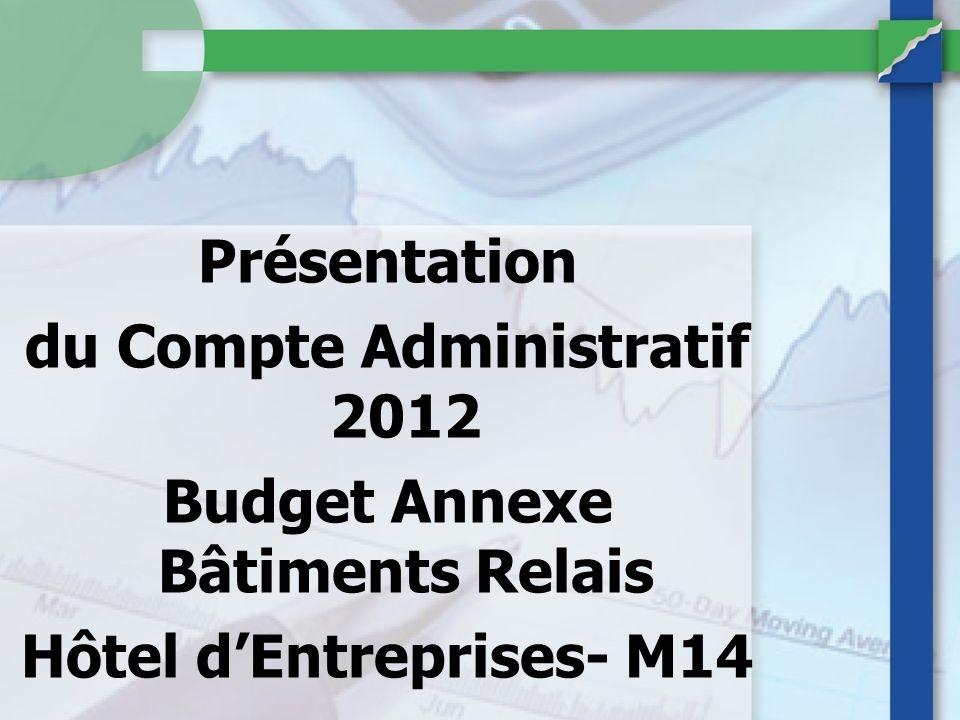du Compte Administratif 2012 Budget Annexe Bâtiments Relais