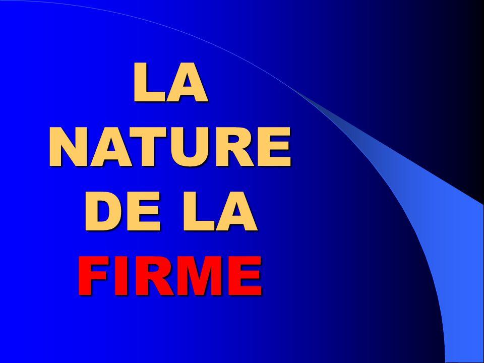 LA NATURE DE LA FIRME