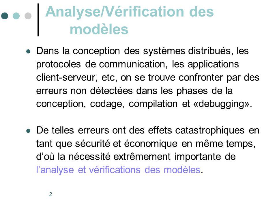 Analyse/Vérification des modèles