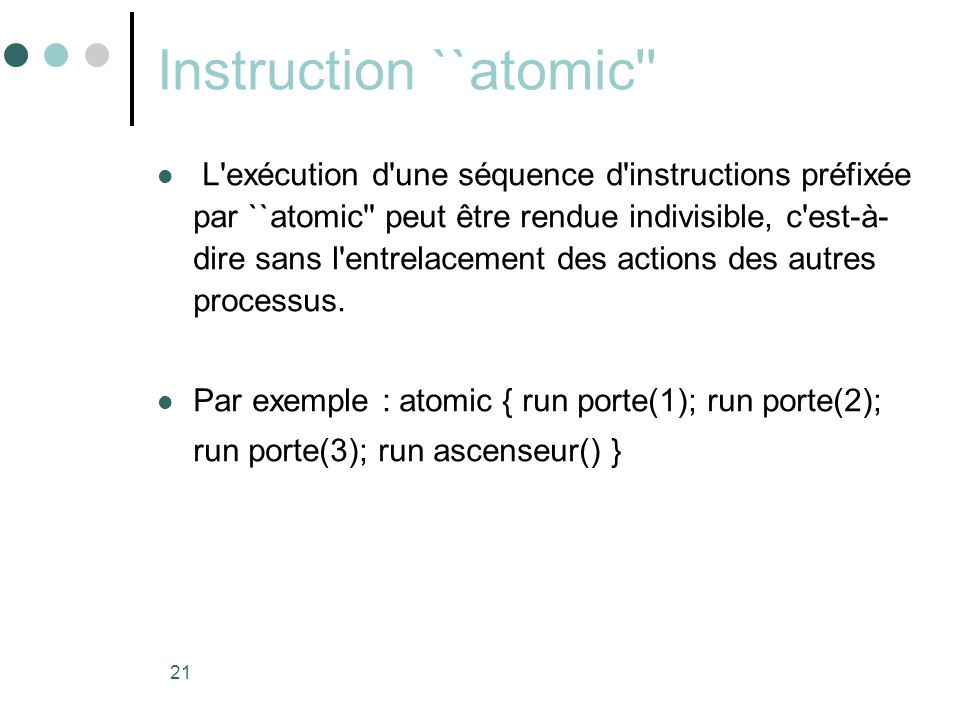 Instruction ``atomic