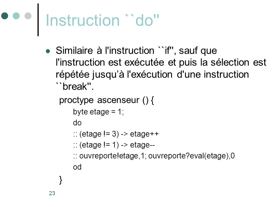 Instruction ``do