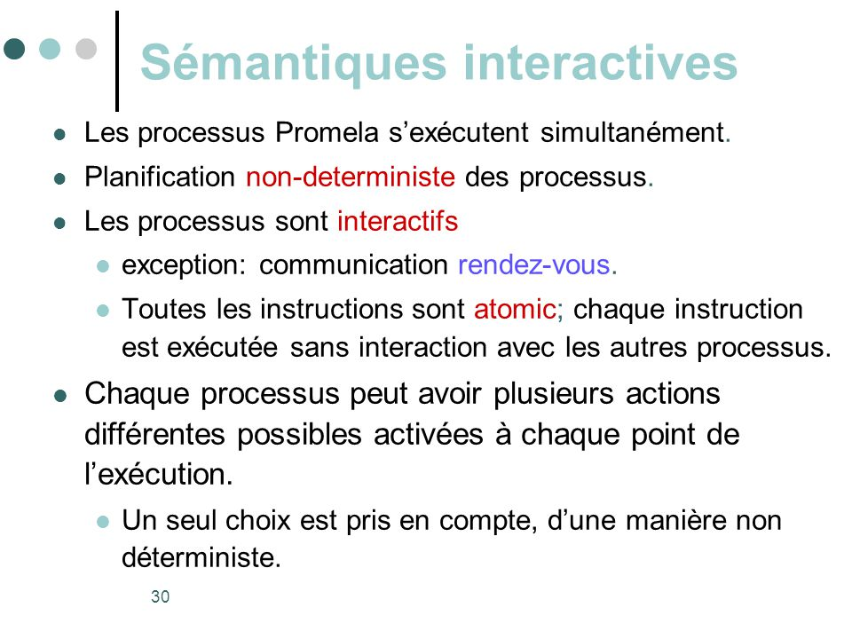 Sémantiques interactives