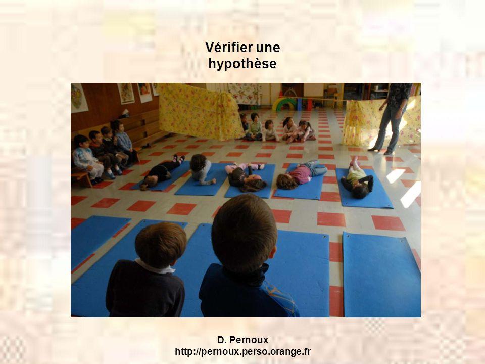 Vérifier une hypothèse D. Pernoux http://pernoux.perso.orange.fr