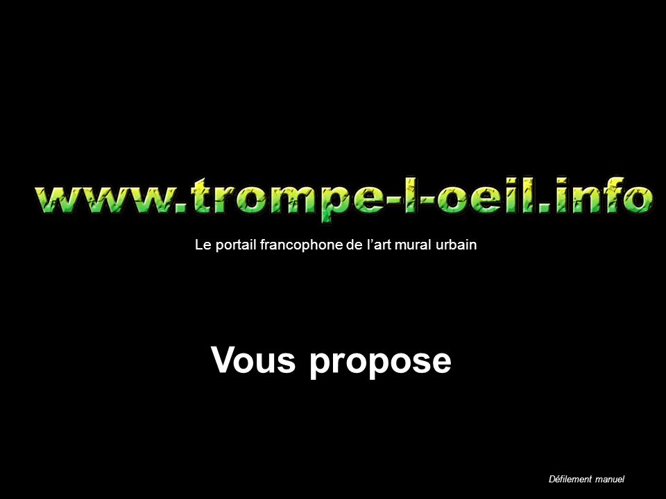 Vous propose Le portail francophone de l'art mural urbain