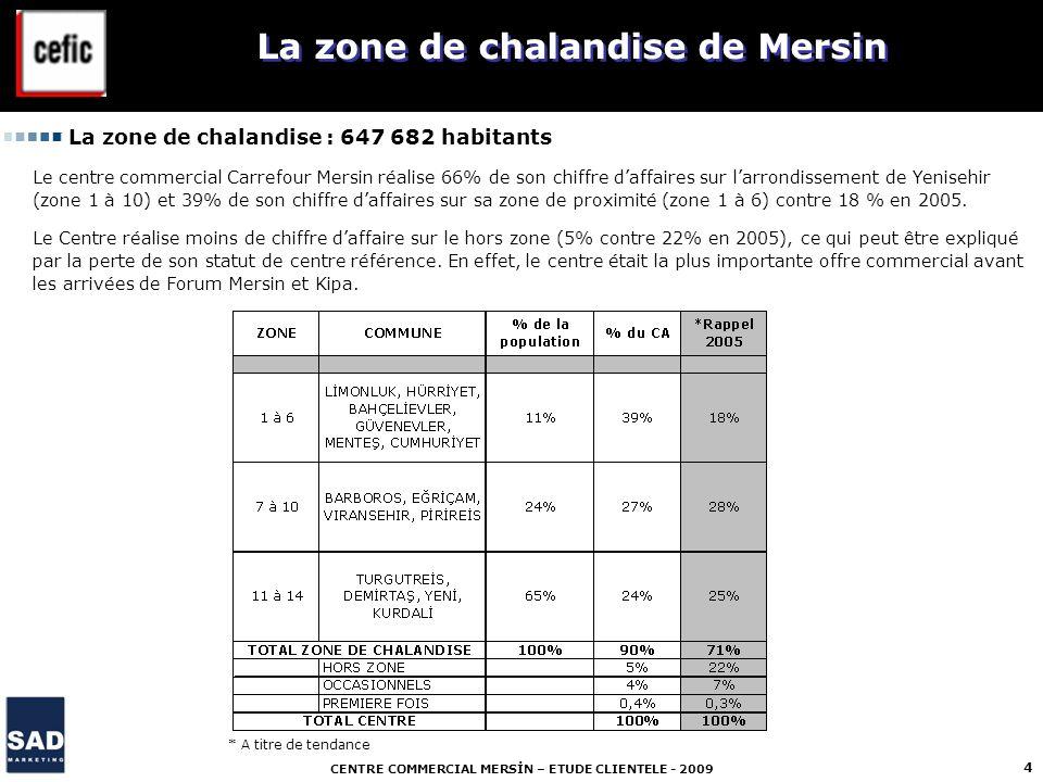 La zone de chalandise de Mersin