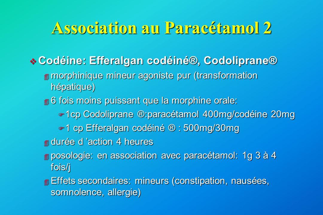 Association au Paracétamol 2